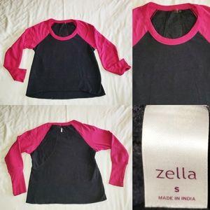 Zella Two Tone Sweater Pullover Longsleeve Pink S